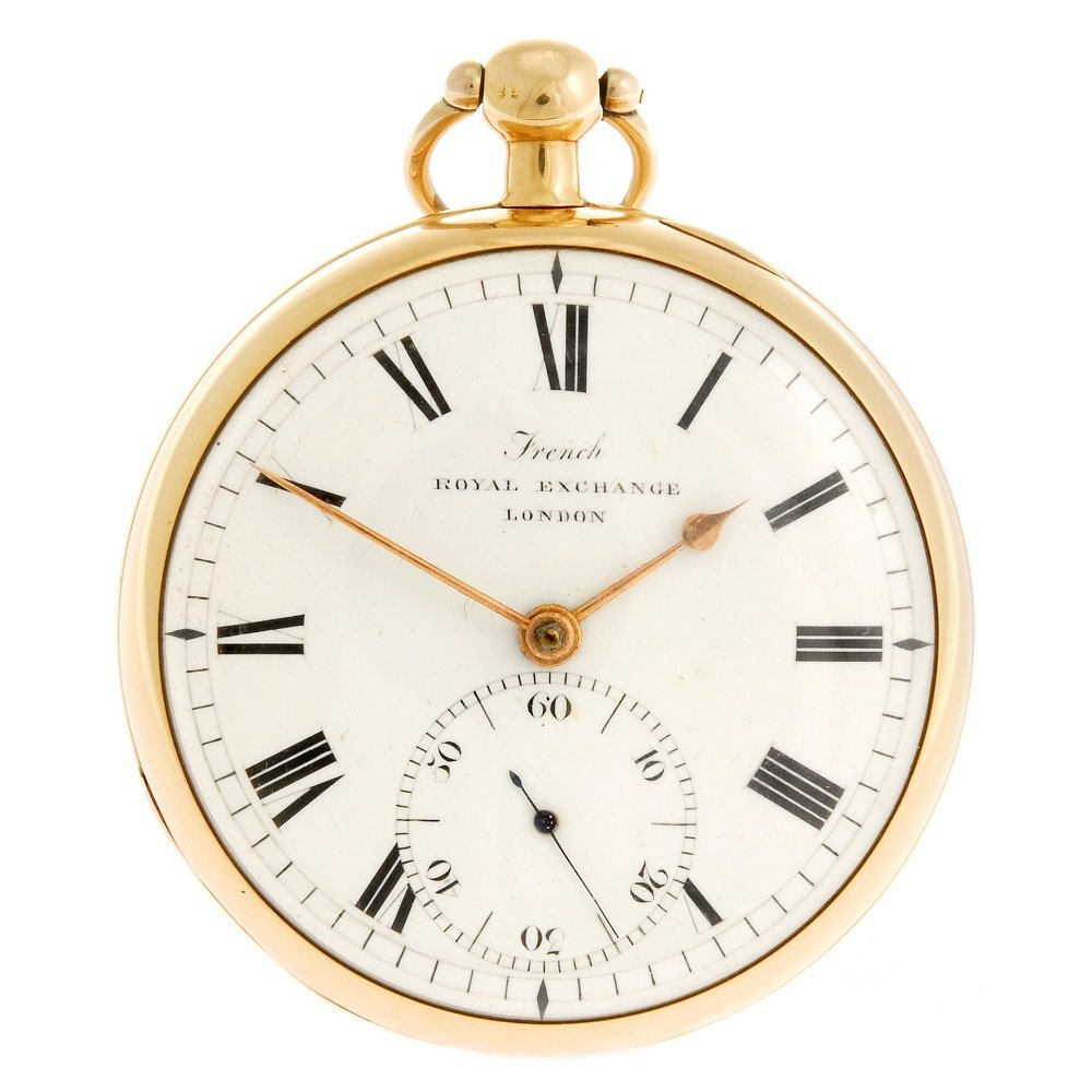 An 18ct gold key wind open face pocket watch signed