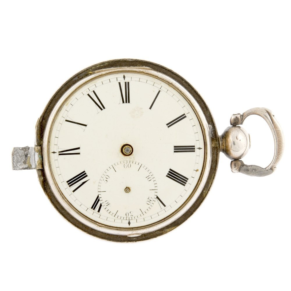 A silver key wind full hunter pocket watch by W. Hay.