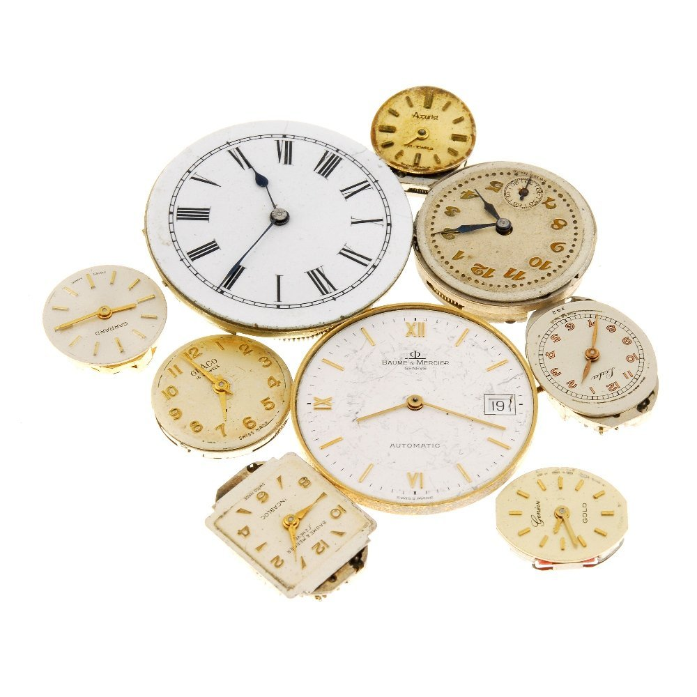 A bag of watch movements.