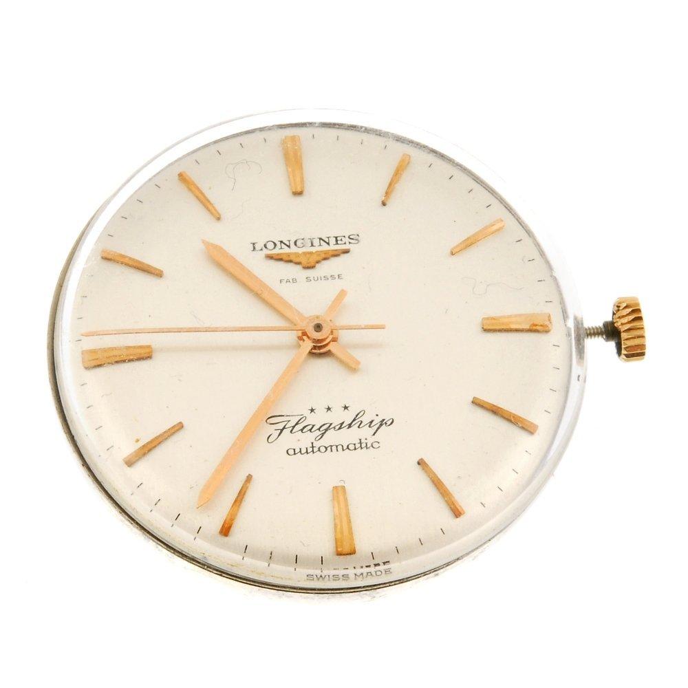 A Longines watch movement.