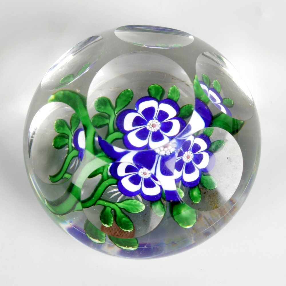 A Baccarat facetted primrose paperweight