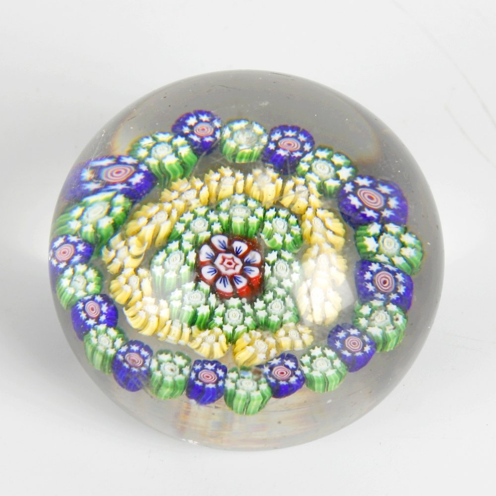 A Baccarat concentric millefiori paperweight