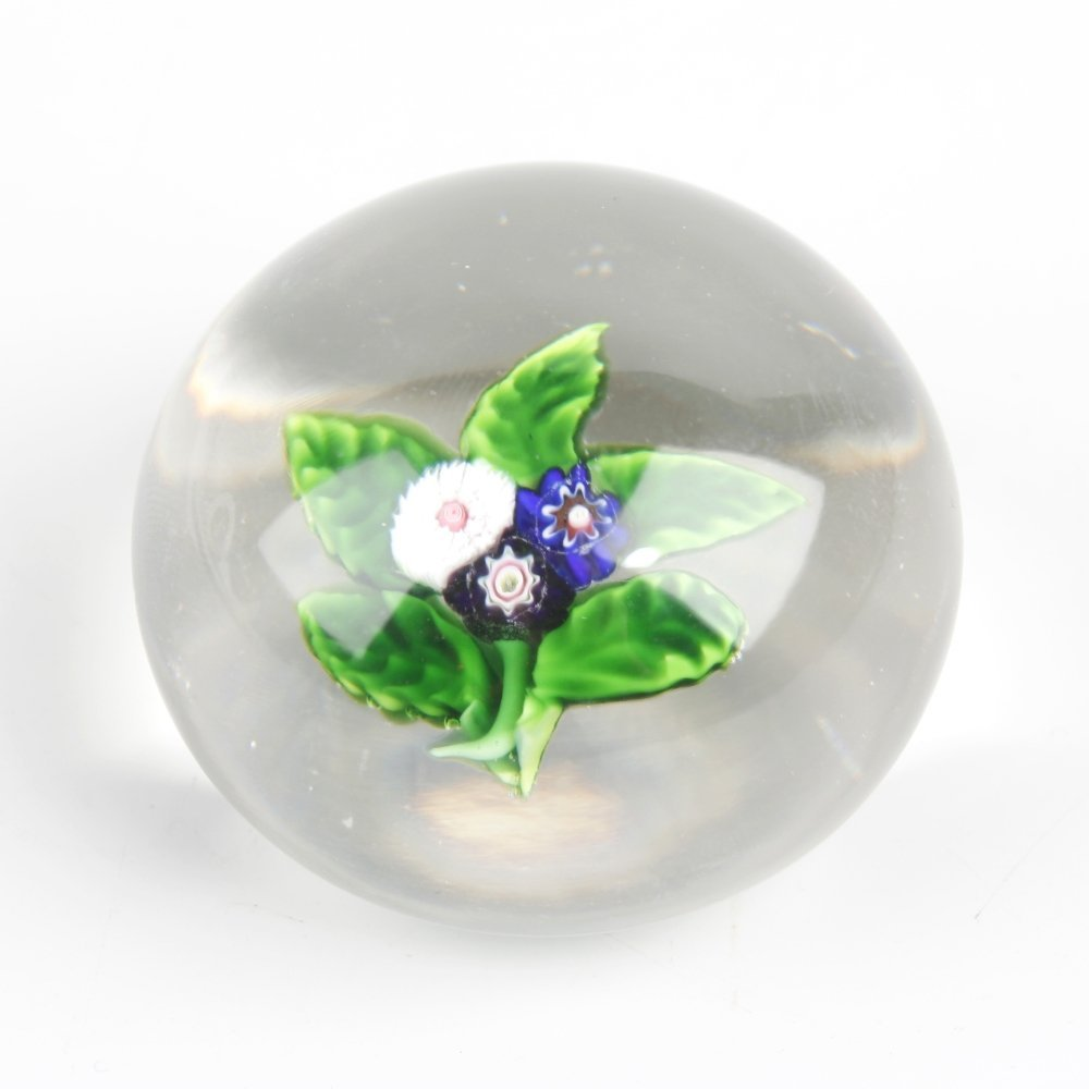 A Baccarat floral spray paperweight