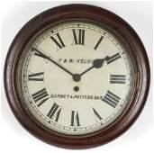A 19th century mahogany cased drop dial wall clock