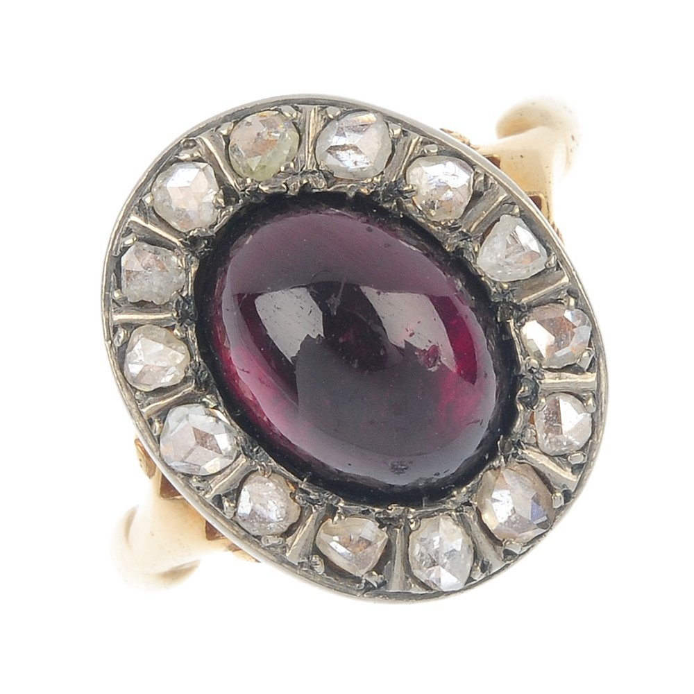 An early 20th century 18ct gold garnet and diamond