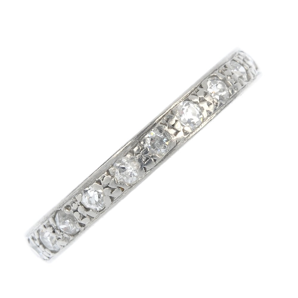 A diamond full-circle eternity ring.