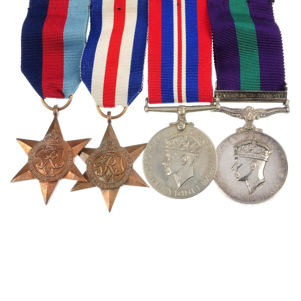 WWII and General Service Medal Group.