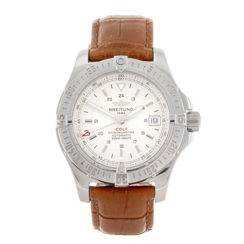 BREITLING - a gentleman's Colt Automatic wrist watch.