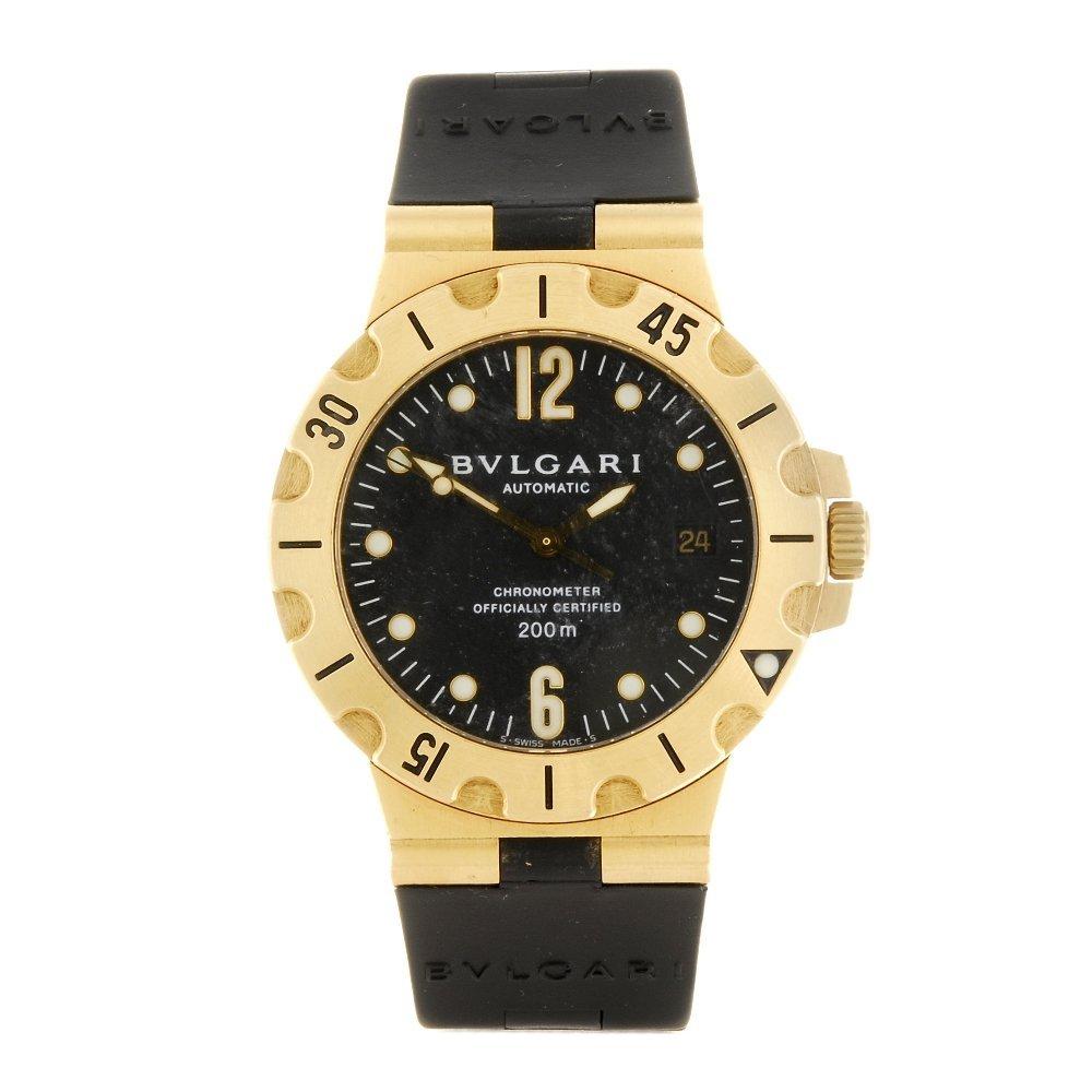 BULGARI - a gentleman's Diagono wrist watch.