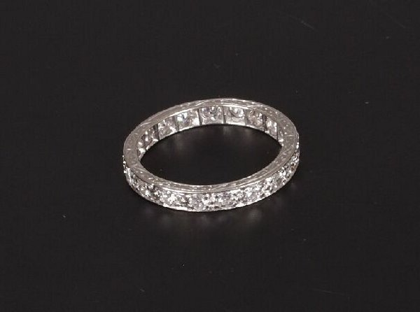 2: Platinum mounted diamond set full eternity