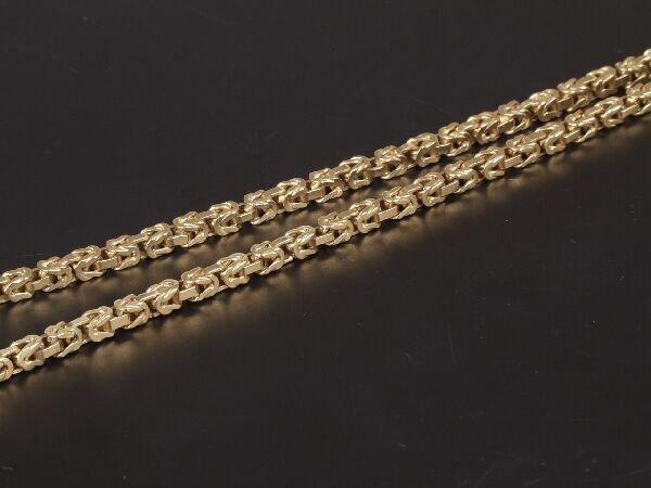 5: 18ct gold Byzantine link neckchain of 48gm