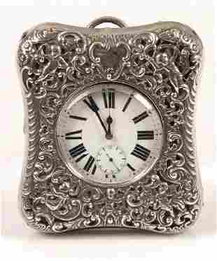 Late Victorian mounted travelling watch