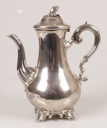 1014: Early Victorian coffee pot, of baluster