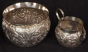 Late Victorian sugar bowl and matching