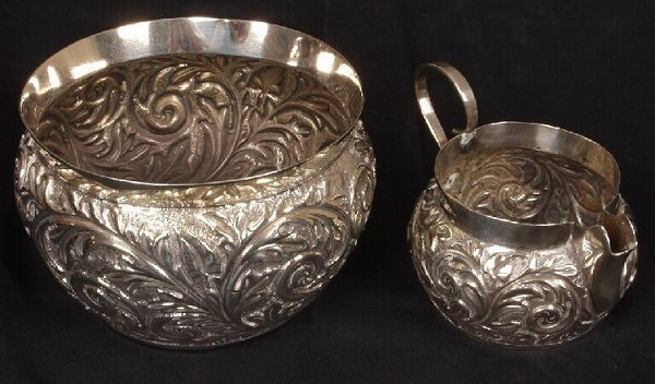 1021: Late Victorian sugar bowl and matching