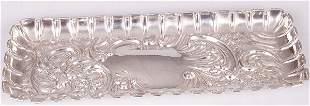 Edwardian pen tray, of rounded rectangu