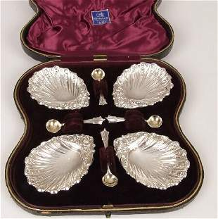 Late Victorian set of four salts with A