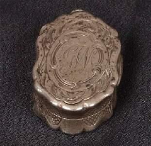 1468: Late Victorian vinaigrette, of shaped o