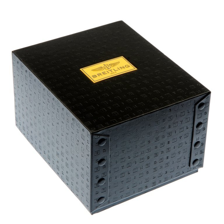 A complete Breitling watch box.