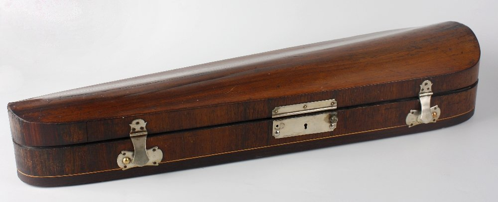 A W.E. Hill & Sons rosewood veneered violin case