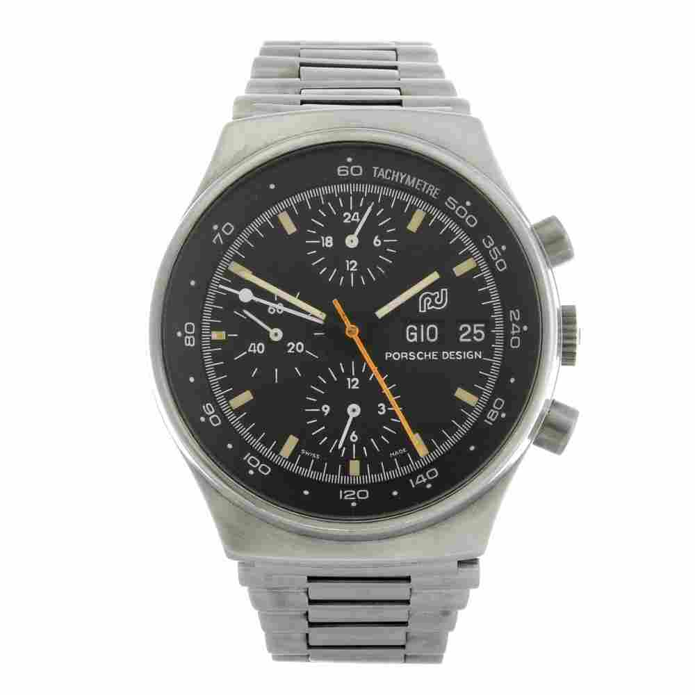 PORSCHE DESIGN - a gentleman's chronograph bracelet wat