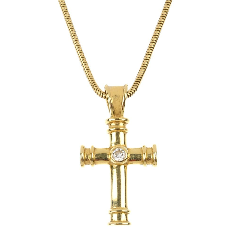 85c21930f9d29f THEO FENNELL - an 18ct gold diamond cross pendant. - Aug 14, 2014 | Fellows  in United Kingdom