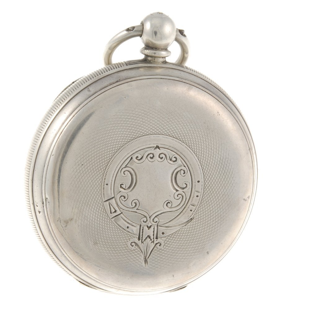 A silver open face pocket watch by Camerer Kuss & Co. - 2