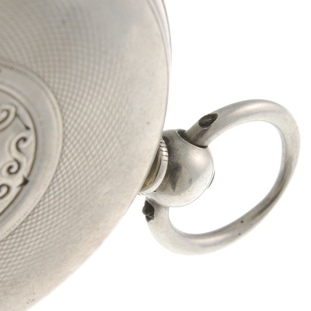 A silver open face pocket watch by Camerer Kuss & Co. - 3