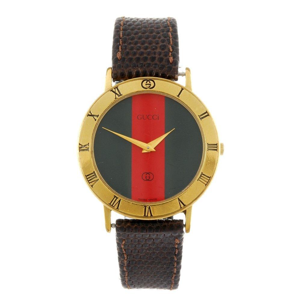 GUCCI - a gentleman's 3001M wrist watch.