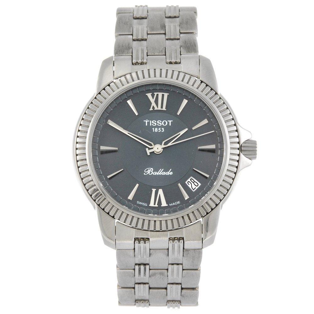 TISSOT - a gentleman's Ballade bracelet watch.