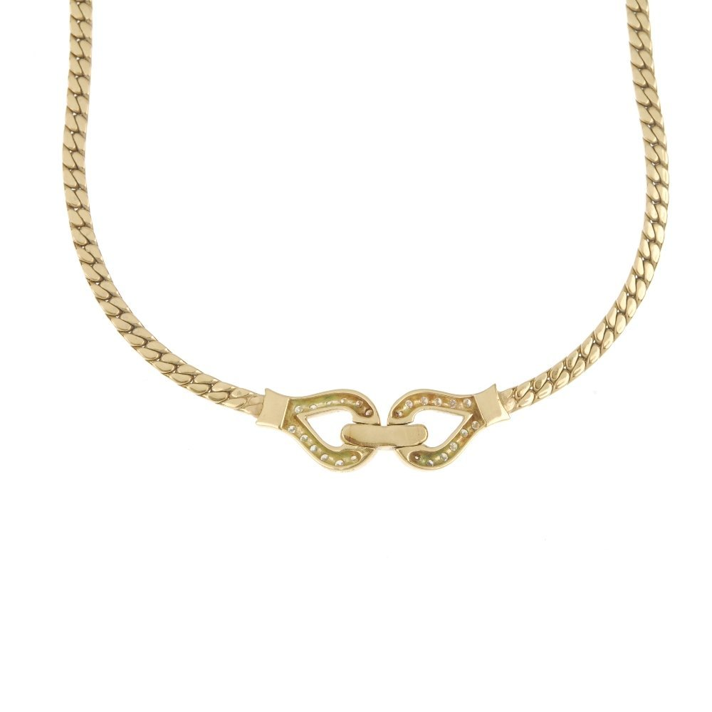 An 18ct gold diamond necklace. - 2