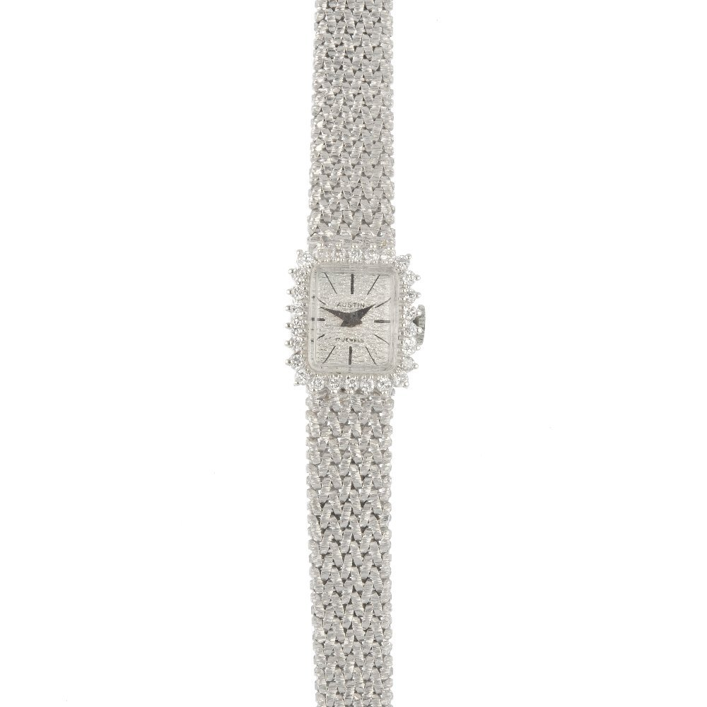 A lady's 9ct gold diamond cocktail watch.