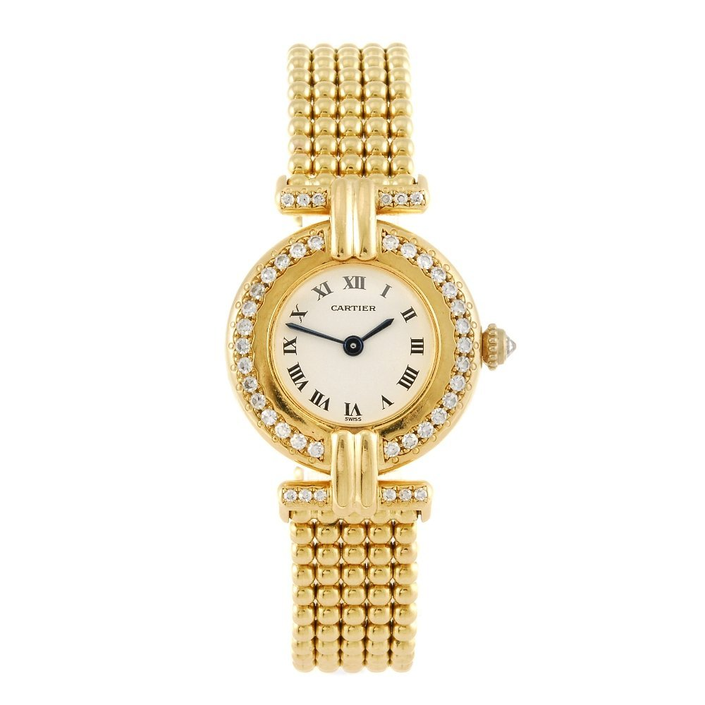 CARTIER - a Vendome bracelet watch.