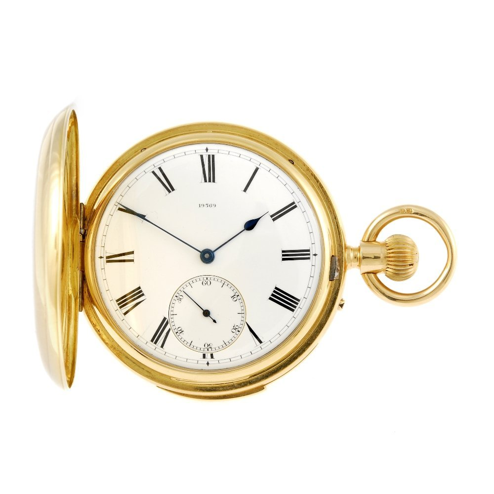 A full hunter repeater pocket watch by R & T.M Innes.