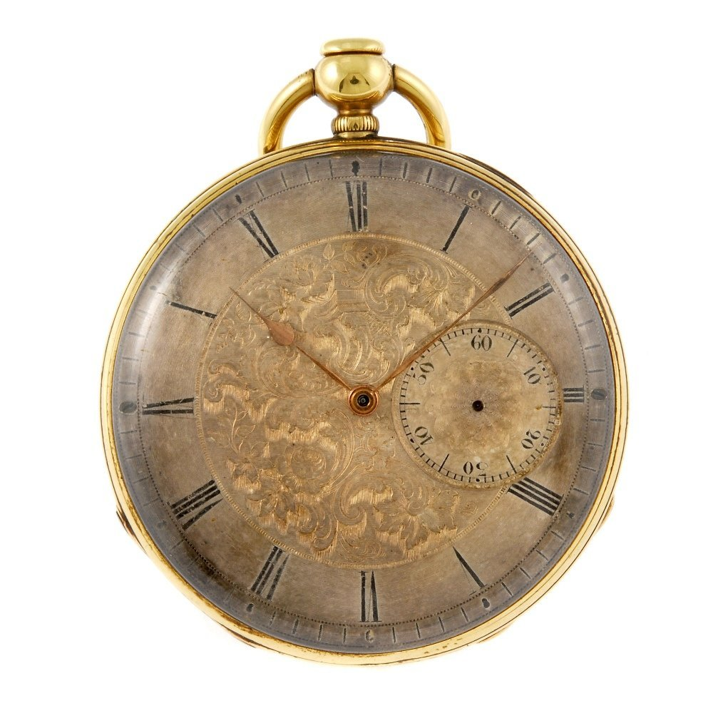 An open face repeater pocket watch by Mouline & Co.