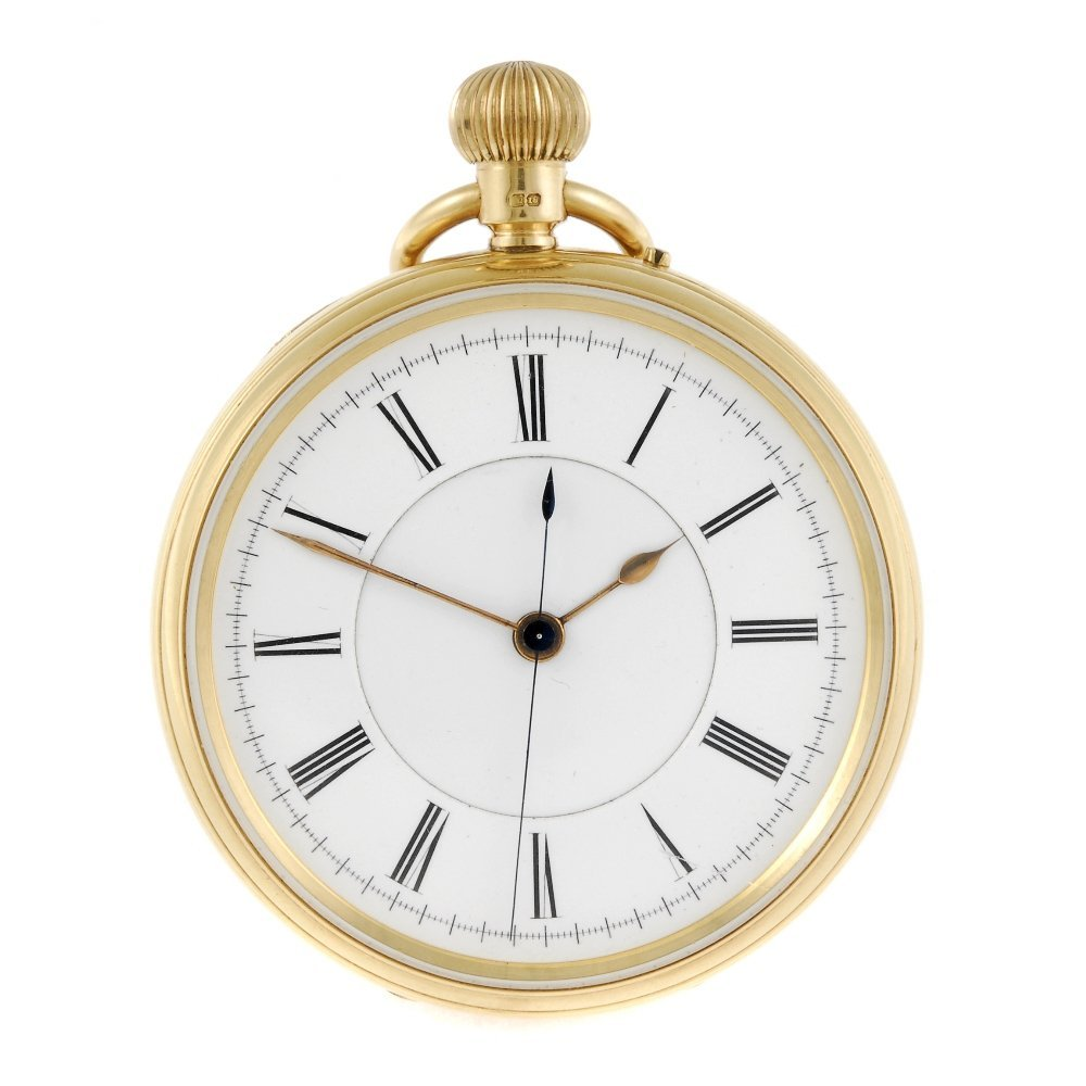 An open face centre seconds pocket watch by Hogg and