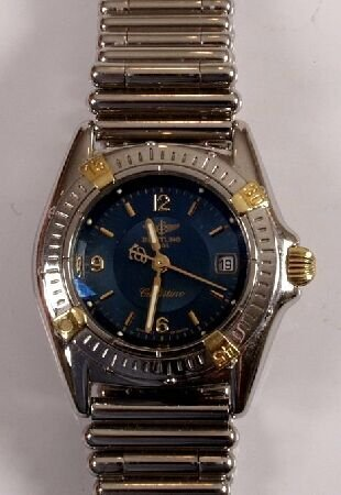 1008: BREITLING - a ladies recent steel Callistino with
