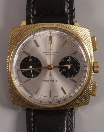1010: BREITLING - a gentleman's 1960's gold plated Top
