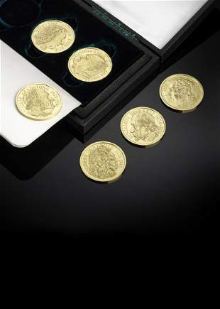 A cased set of 6 gold medals by Gerald Benney and