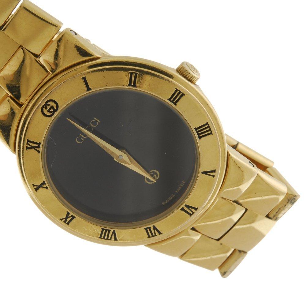 GUCCI - a gentleman's 3300.2M bracelet watch with a - 4
