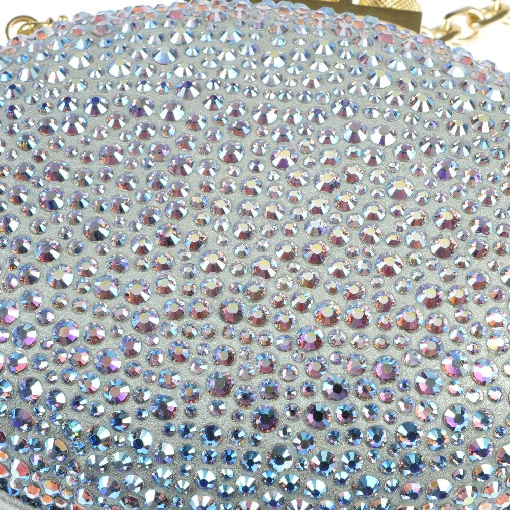 CHRISTIAN LOUBOUTIN - an aqua Mina clutch bag. - 3