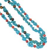 Three turquoise bead necklaces