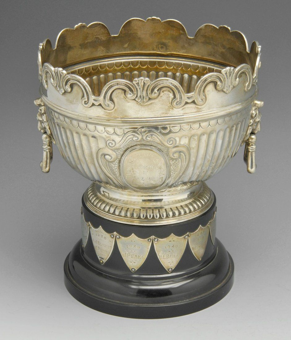 A late Victorian silver trophy bowl.