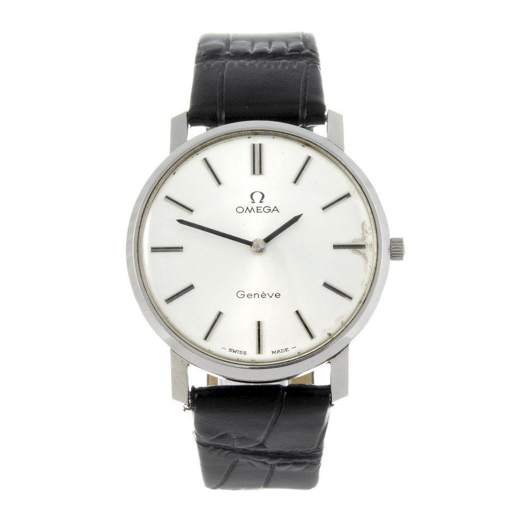 OMEGA - a gentleman's stainless steel Gen?e wrist