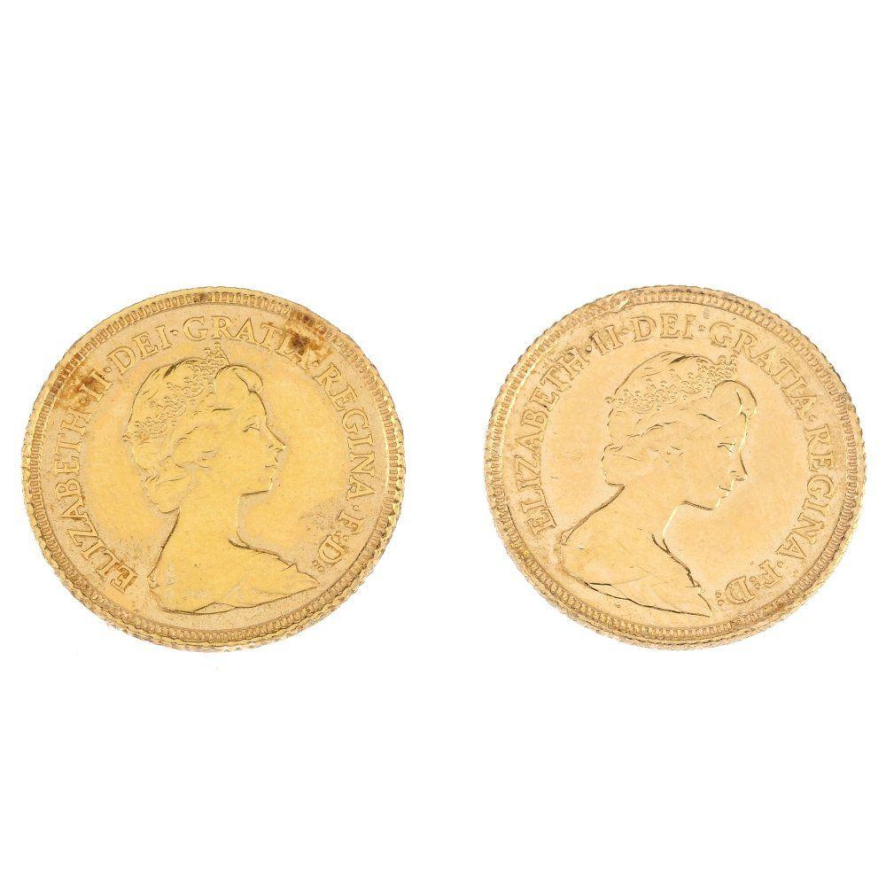 Elizabeth II, Half-Sovereigns 1982 (2).