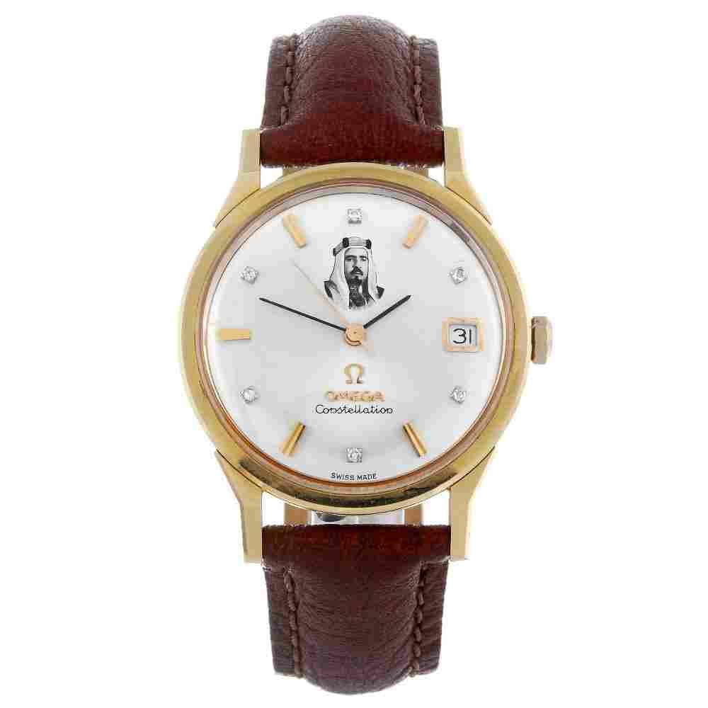 OMEGA - a gentleman's yellow metal Constellation wrist