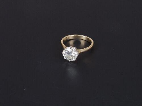 1469: 18ct gold mounted single stone diamond