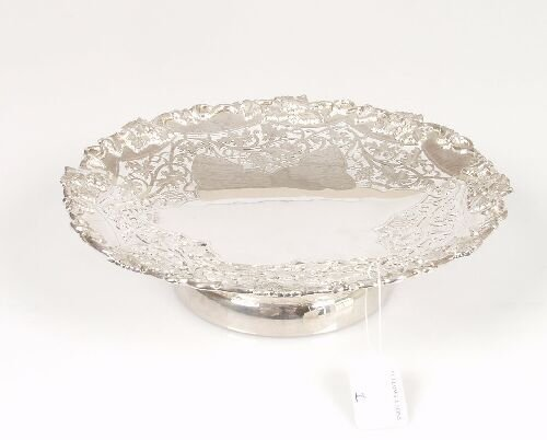 2001: A silver tazza with pierced and applied