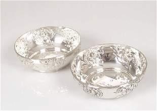 A pair of Edwardian circular bon bon di