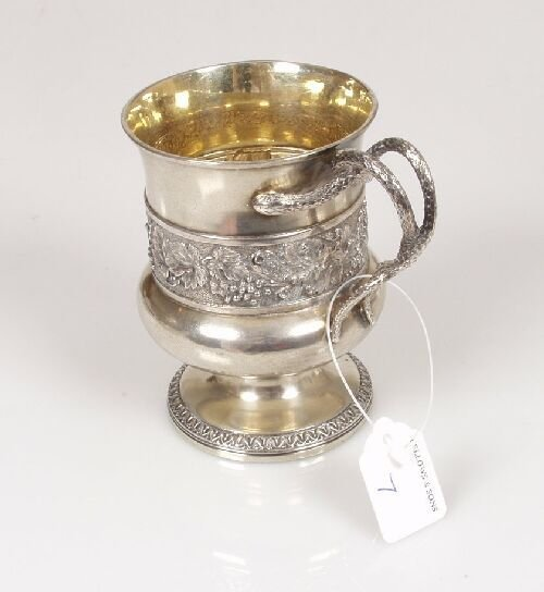2007: A George III christening mug of baluste